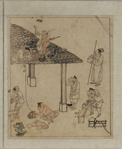 Kim Hong-do, 'Album of Genre Painting by Danwon', 18th century