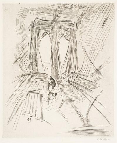 John Marin, 'Brooklyn Bridge No. 6 (Swaying)', 1913