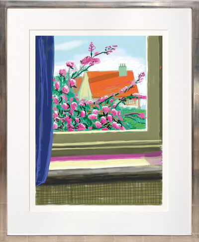 David Hockney, 'My Window with iPad drawing No. 778, 17th April 2011 [Cherry Blossom] ink-jet print.', 2020