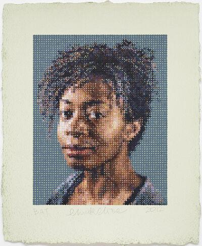 Chuck Close, 'Kara / Felt Hand Stamp', 2012