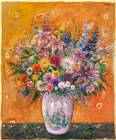 Bruno Zupan, 'Bouquet on Titian Orange Ground', 2019