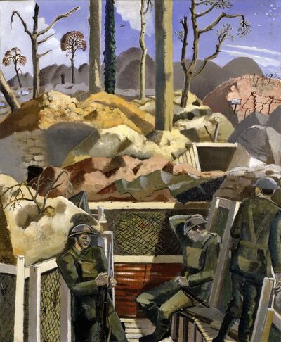 Paul Nash, 'Spring in the Trenches, Ridge Wood', 1917-1918