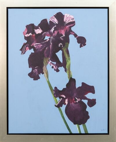 Charles Pachter, 'Irises - purple, blue, flowers, pop-art, contemporary, acrylic on canvas', 2019