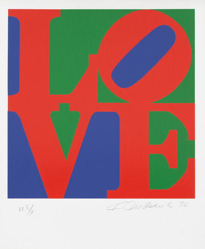 Robert Indiana, 'Book of LOVE: Red/Green/Violet HC II/X', 1996