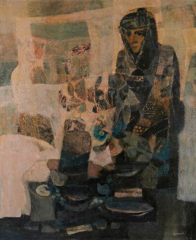 M'hamed Issiakhem, 'Famille sur une terrasse', 1983/84