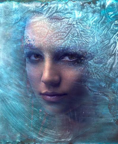 Markus Klinko, 'Britney Spears (Ice blue)'