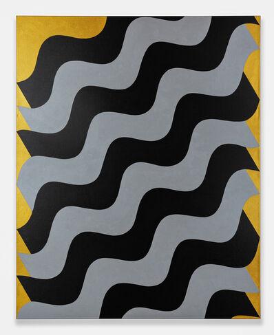 Mohamed Melehi, 'Moucharabieh, Grey on Black', 2020