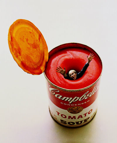 Carl Fischer, 'Andy Warhol in a Soup Can', 1969