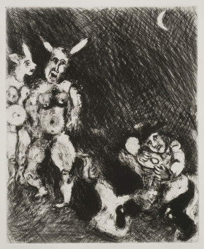 Marc Chagall, 'The Satyr and the Traveler', 1927-1930