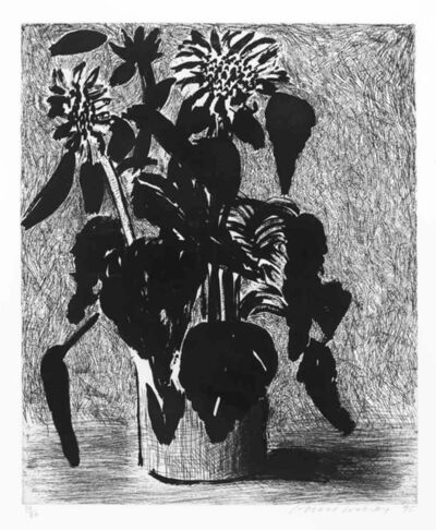 David Hockney, 'Sunflowers I', 1995