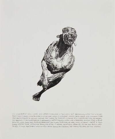 Jim Shaw, 'Untitled (Grayhound (middle): An Incompetant Man Climbs Up a Ladder)', 1993