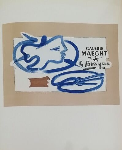 Georges Braque, 'Galerie Maeght (blue face)', 1959