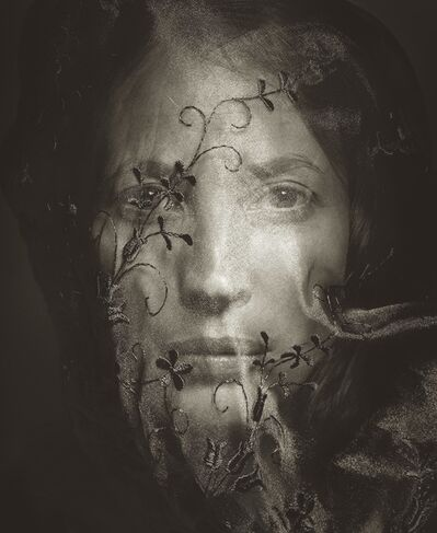 Albert Watson, 'Christy Turlington in Veil', 2014