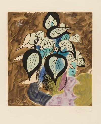 Georges Braque, 'Feuillage en couleurs (Vallier 105)', 1956
