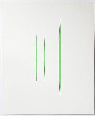 Lucio Fontana, 'Untitled (Concetto Spaziale)', 1966