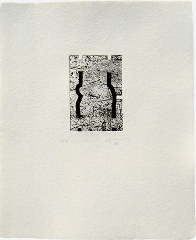 Eduardo Chillida, 'Clara Janés: La Indetenible Quietud III', ca. 1998