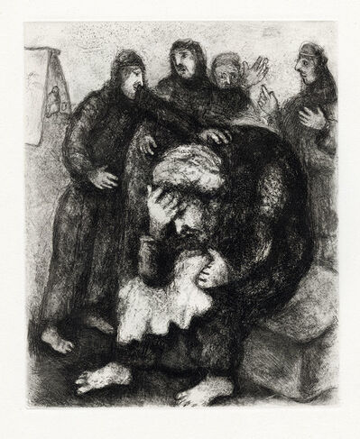 Marc Chagall, 'Jacob Pleurant Joseph (Jacob Weeps for Joseph)', 1956