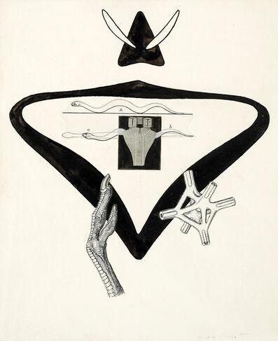 "Max Ernst, 'Illustrationsvorlage zu B. Pérets ""La brebis galante""', 1949"