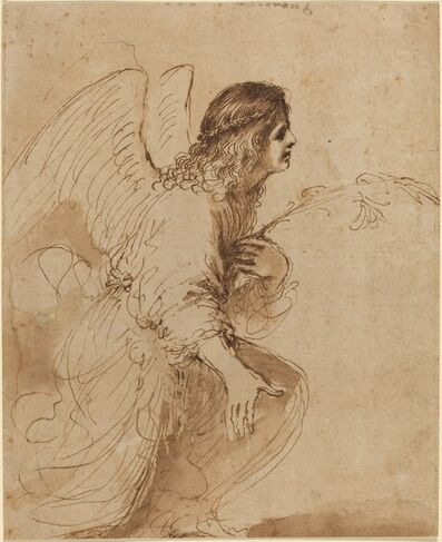 Guercino, 'The Angel of the Annunciation', ca. 1638/1639