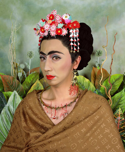 Yasumasa Morimura, 'An Inner Dialogue with Frida Kahlo (Hand-shaped Earring)', 2001