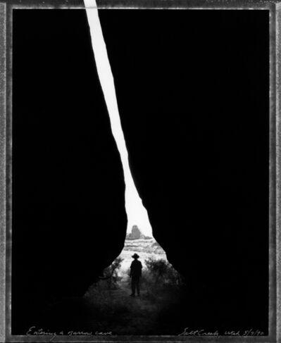 Mark Klett, 'Entering a Narrow Cave, Salt Creek, Utah, 5/9/90', 1990