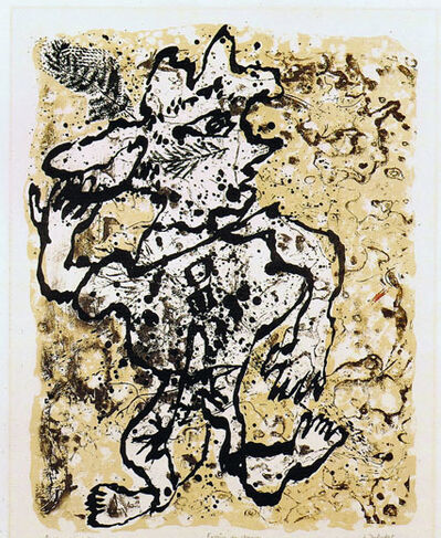 Jean Dubuffet, 'Fougere au Chapeau', 1953