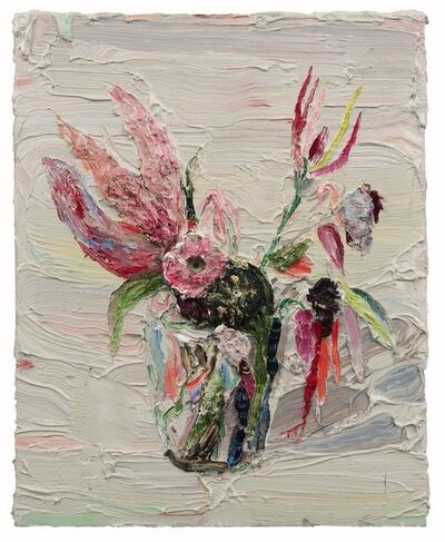 Allison Schulnik, 'Pink Claw Flowers', 2012