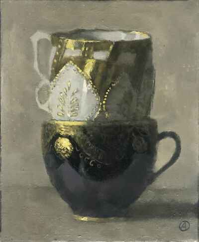 Olga Antonova, 'Three Stacked Cups (two with Gold)', 2020