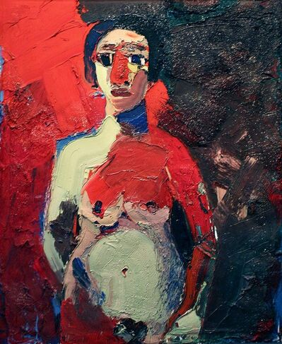 Joan Brown, 'Girl Standing (Girl with Red Nose)', 1962