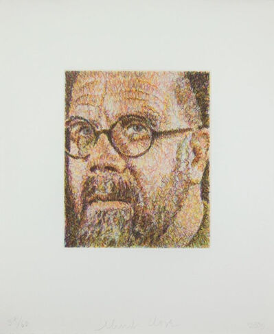 Chuck Close, 'Self Portrait, Scribble Etching', 2000