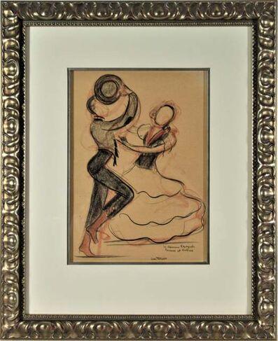 "Jean Target, '""Les Danseurs Espagnols Rosario and Antonio"" referring to the famous Flamenco dancers,  Antonio Ruiz Soler and Florence Perez Padilla', ca. 1945"
