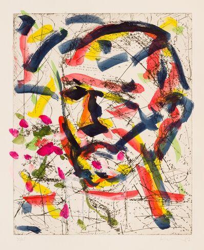 Friedemann Hahn, 'Kopf mit Mandelzweig', 1987
