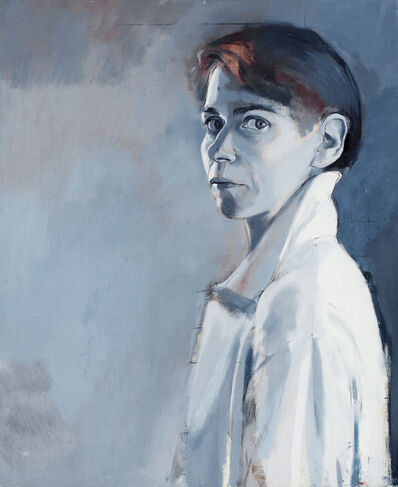 Peri Schwartz, 'Self Portrait in White Shirt', 1989