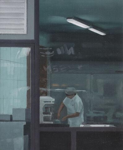 Serban Savu, 'Untitled (Worker through Shop Window)', 2006