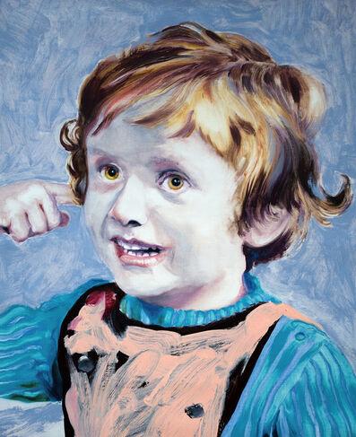 Ludovic Chemarin©, 'Ludovic Chemarin enfant sur fond bleu', 2018