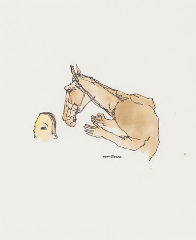 Marcel Dzama, 'Horse & Man's Head', 1997