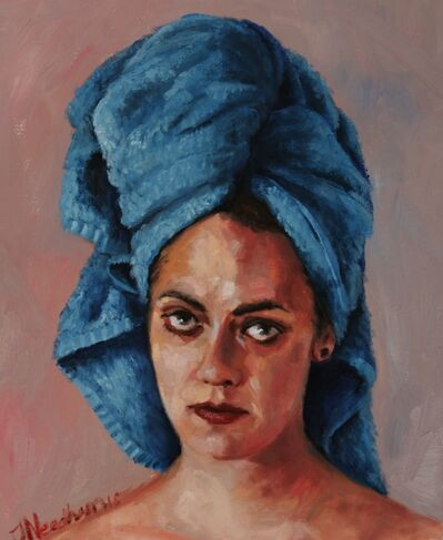 James Needham, 'Alix In A Blue Towel', 2016