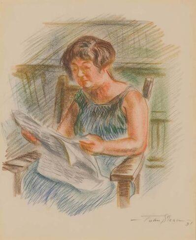 John Sloan, 'Dolly Reading Newspaper', 1931