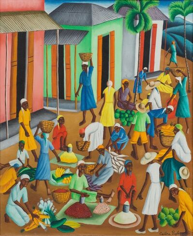 Castera Bazile, 'Untitled (Open Air Market) ', ca. 1962