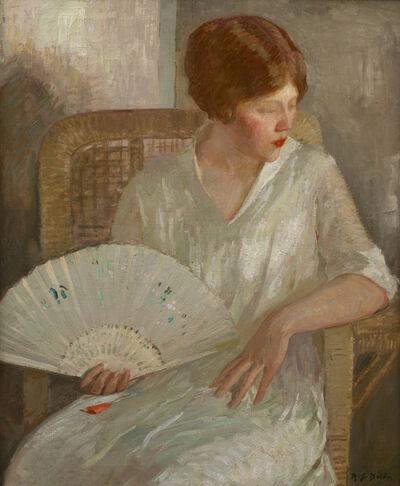Rae Sloan Bredin, 'Girl with White Fan', ca. 1915