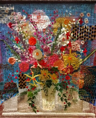 Susan Klebanoff, 'Blue Floral'