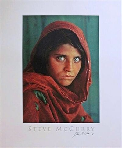 Steve McCurry, 'Sharbat Gula, Afghan Girl, Pakistan (Hand Signed)', 1984