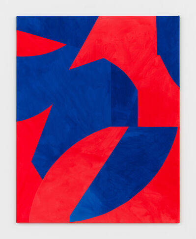 Sarah Crowner, 'Sliced Shapes, Red and Blue', 2019