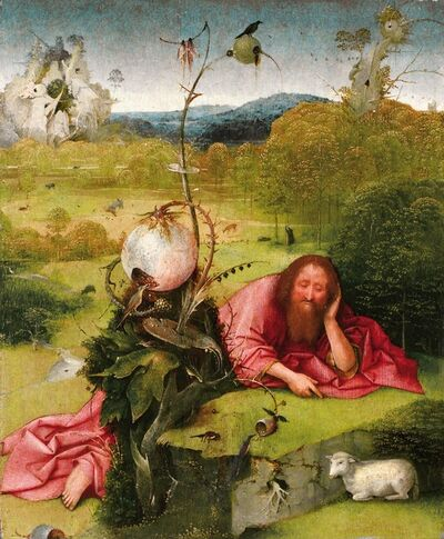 Hieronymus Bosch, 'Saint John the Baptist in the Wilderness', ca. 1489