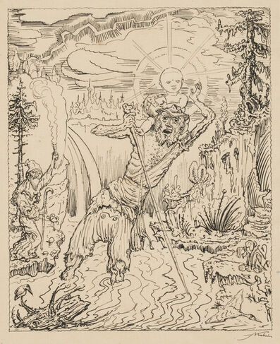 Alfred Kubin, 'Saint Christopher', Circa 1912-1915