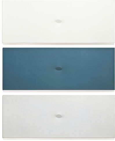Turi Simeti, 'Trittico bianco-blu-azzuro', 1980