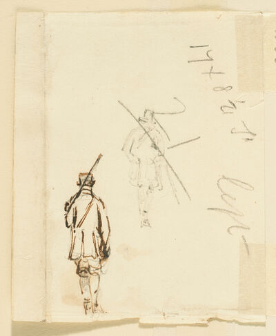 John Constable, 'Two Studies of a Shepherd', 1816