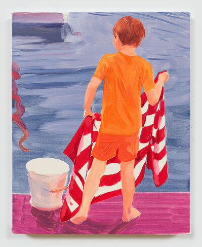 Sebastian Blanck, 'Red and White Striped Towel ', 2017