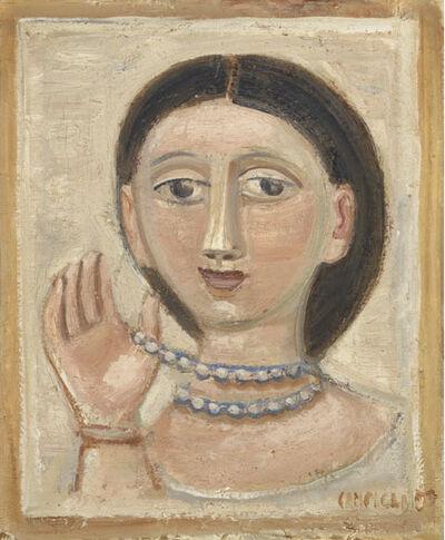 Massimo Campigli, 'Testa di donna con collana', 1950