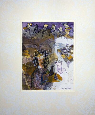 Jehad Al Ameri, 'Yellow & Purple', 2020